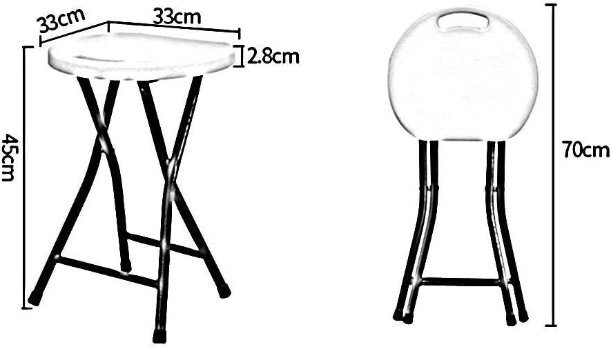 WEIZI Tabouret Pliant en Bois créatif Simple Pliant escabeau Tabouret de Cuisine Chaise Pliante Portable 5-red
