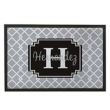 "Larmai Grey Home Door Mats Indoor Outdoor Custom Name Front Door Mat Rug Non-Slip Washable Doormat Outside 31.5x19.7"" Personalized Door Mat Rug Gifts Floor Mats for Home"