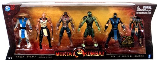 Cheap Mortal Kombat 20th Anniversary 5 Inch Action Figure 6 Pack
