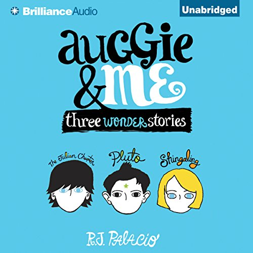 Auggie & Me     Three Wonder Stories              By:                                                                                                                                 R. J. Palacio                               Narrated by:                                                                                                                                 Michael Chamberlain,                                                                                        Scott Merriman,                                                                                        Taylor Ann Krahn,                   and others                 Length: 8 hrs and 1 min     1,242 ratings     Overall 4.7