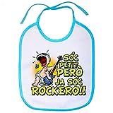 Babero Sóc petit però ja sóc rockero - Celeste