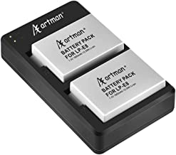 Artman 2-Pack LP-E8 Replacement Batteries and Rapid Dual USB Charger for Canon LP-E8 and Canon EOS Rebel T2i, T3i, T4i, T5i, EOS 550D, 600D, 650D, 700D, Kiss X4, X5, X6, LC-E8E Camera(1800mAh)