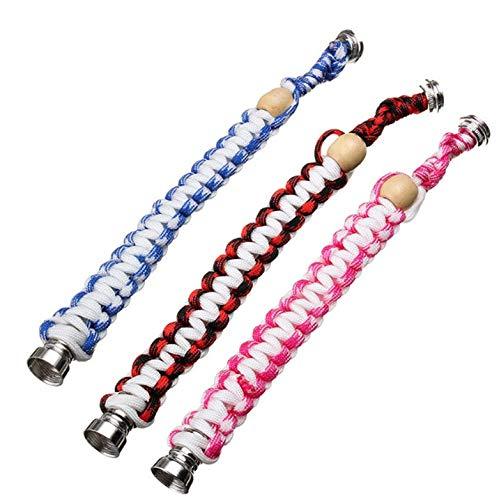 Gshy - Pulsera trenzada para manguera y pulsera, elástica, manguera de metal, elegante y portátil, color aleatorio