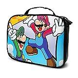 Super Smash Bros Mario - Bolsa de maquillaje portátil multifunción para mujer