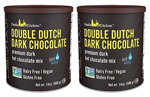 Castle Kitchen Double Dutch Dark Chocolate - Dairy-Free, Vegan Premium Hot Chocolate Mix - Just Add Water (Pack of 2)