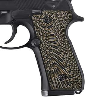 Cool Hand G10 Grips for Beretta 92/96 Full Size, 92 fs, m9, 92a1, 96a1, 92 INOX, Sunburst Texture