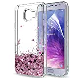 LeYi Galaxy J4 2018 Case with Screen Protector, Girl Women