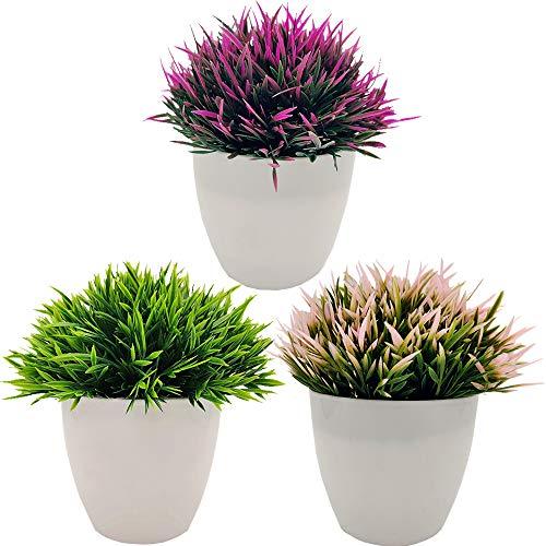 Fycooler Plantas Artificiales Plásticas de Maceta,Planta Artificial Decorativa, Adecuado para El...