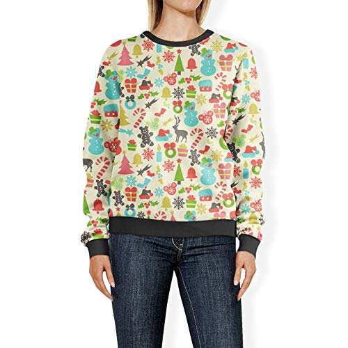 Verborgen Mickeys Kleurrijke Retro Disney Kerstmis Womens Sweatshirt trui