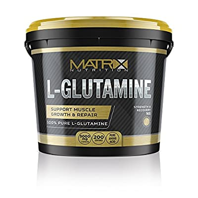 Matrix Nutrition Pure 1KG L-Glutamine Powder - Muscle Size & Strength - Recovery & Health. by Matrix Nutrition