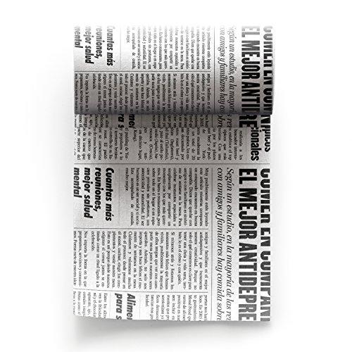 MYdrap Cocktail Napkins 50 unités par rouleau 11x11 cm Zeitungsstil, Cotton, Multicolore