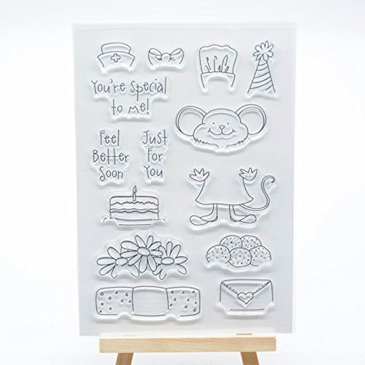 Welcome to Joyful Home 1pc You are Special to me Clear Stamp for Card Making Decoration and Scrapbooking wqiyzwednmglyqmm