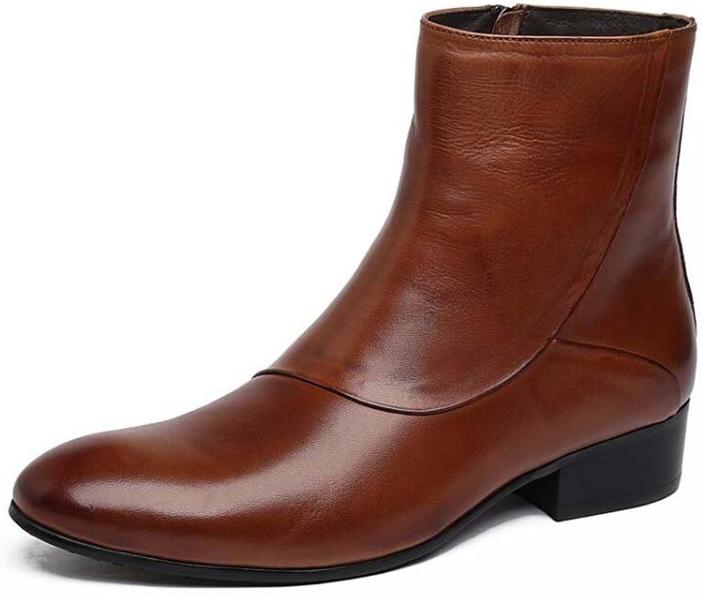 MYI Chaussures de Travail pour Hommes Bottes Simples en Cuir Chaussures de Mariage Confortables Atmosphère Haute Chaussures Affaires Décontracté Modèles