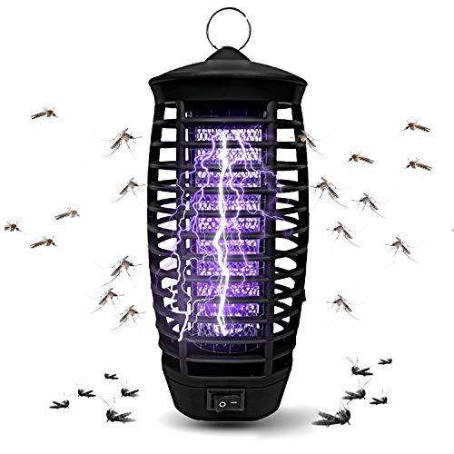Fullsexy Elektrischer Insektenvernichter, Insektenlampe UV Mückenfalle Mückenlampe Mückenschutz für Innen und Außeneinsatz Ungiftig Sicher MEHRWEG
