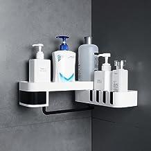 LOPIXUO Badkamer plank Hoek Badkamer Organizer Plank Shampoo Cosmetische Opbergrek Wandmontage Keuken Plank Huishoudelijke...