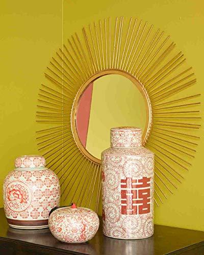 Pomax Miroir Soleil en métal doré D.65cm Sun