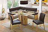 German Furniture Warehouse 4 Piece High End Dining Set, Morgina 300 Breakfast Nook
