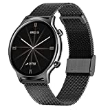 QFSLR Smartwatch, Reloj Inteligente con Ciclo Menstrual Femenino Monitor De Frecuencia Cardíaca Monitor De Presión Arterial Actividad Inteligente, Regalo De Cumpleaños Android E iOS,Black e