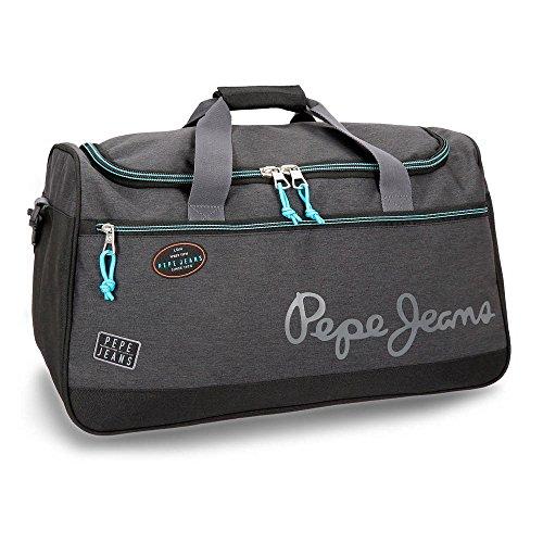 Pepe Jeans Teo Bolsa de Viaje, 52 cm, 43.73 litros, Gris