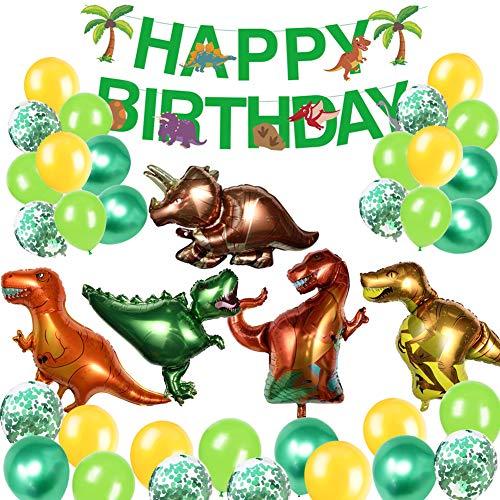 Suministro de fiesta de cumpleaños,globos cumpleaños,Globos de látex,Globos de helio,sDom Luna cielo arco iris (dinosaurio)
