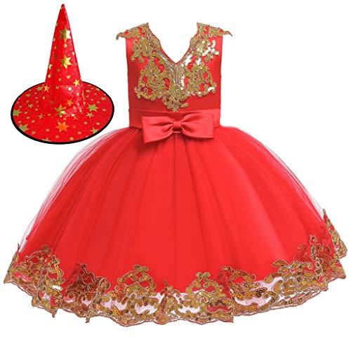 Vectry Vestidos Bebe Niña Ceremonia Disfraz Mariquita Vestir Princesas Trajes De Niñas Disfraz De Principe Camiseta Lentejuelas Reversibles Niña Ropa para Niña De 12 Años Ropa para Vestido Rojo