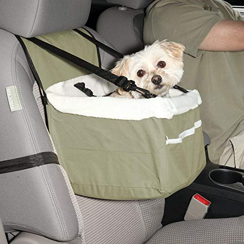 Haokaini Asiento de Coche para Perros Soft Car Booster with Seat Belt Tether Outdoors Portable Travel Dog House Sofa Pet Puppy Bag Carrier for Dog Gato para Mirar Alrededor 33X27x19cm