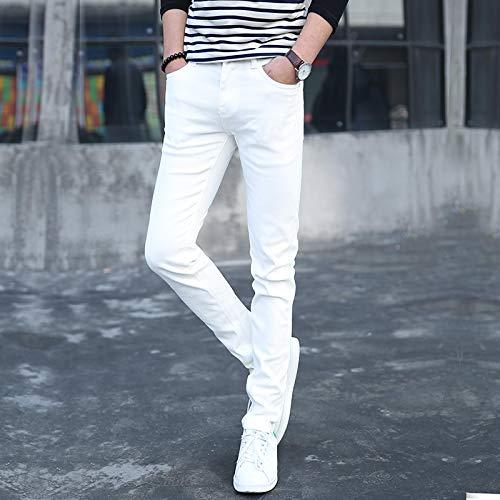 Vaqueros para Jeans Pantalones Pantalones Vaqueros Ajustados para Hombre Nuevo Diseñador De Moda Masculino Clásico Pantalones Vaqueros Elásticos Rectos Negros/Blancos Pantalones