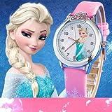 Reloj de pulsera para niños, diseño de Elsa Anna, morado