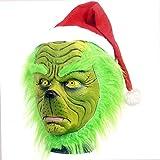 ZhuYiCheng Película Star Wars Kylo Renchubacca Máscara, Verde Navidad con su máscara de látex, Green Hair Monster Head Set Talla única Cabello Verde