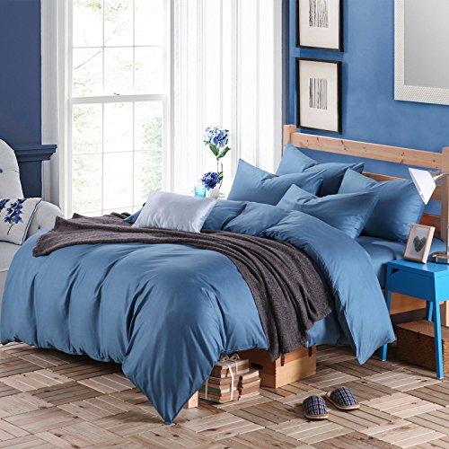 uxiefil Coton Textile Pur Coton literie Quatre Ensembles de modèles de Linge de lit en Noir et Blanc