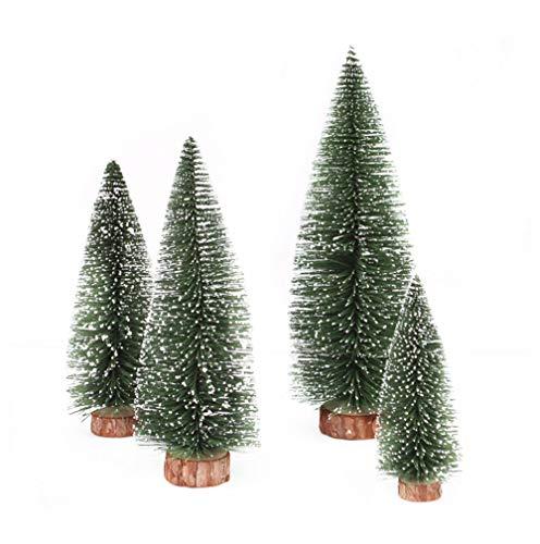 carol -1 Mini Weihnachtsbaum Künstlich Miniatur Tannenbaum Grün Mini Christbaum Tree Klein Weihnachtsdeko Figuren, Mini Weihnachtsbaum Tannenbaum Deko, Christbaum Grün Tannenbaum Künstliche Tanne