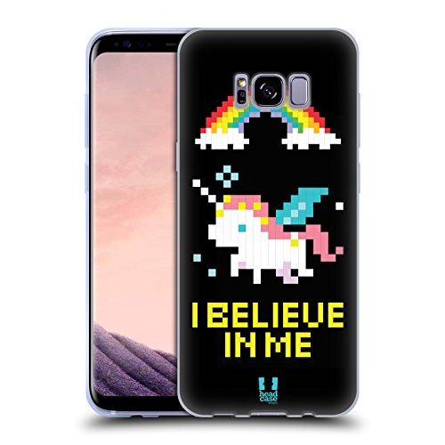 Head Case Designs Unicorno Pop Trend Cover in Morbido Gel e Sfondo di Design Abbinato Compatibile con Samsung Galaxy S8+ / S8 Plus