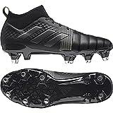 adidas Kakari X Kevlar, Chaussures de Rugby Homme - Noir - Noir (Negbas/Negbas/Nocmét), 40 2/3 EU