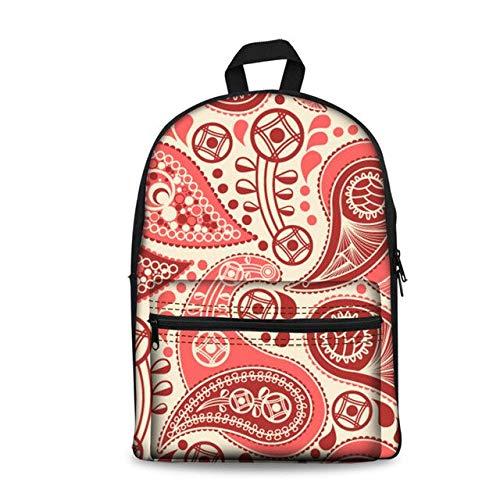 Schooltas, linnen, paisley, bedrukt, rugzakken voor adolescenten, meisjes, bloem, licht, vrouwen, casual, schouders, tas, kinderen, bookbag