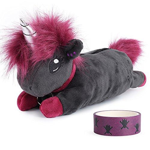 corimori Estuche Escolar (10+ modelos) Animales De Peluche Niños, color ruby el unicornio-punk (rosa-negro) (1845-001) ⭐