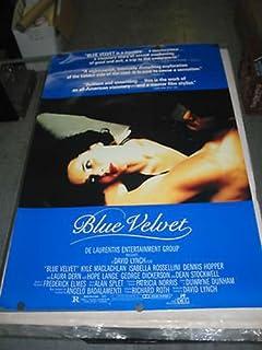 BLUE VELVET/ORIG. U.S. ONE SHEET MOVIE POSTER (DAVID LYNCH/DENNIS HOPPER