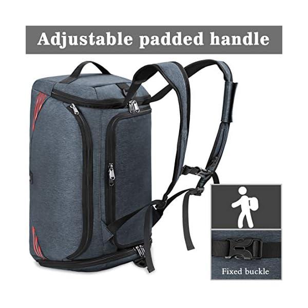 51LRZ3cuNQL. SS600  - NUBILY Bolsa Deporte Hombre Bolsas Gimnasio Mujer Bolso Fin de Semana Viaje con Compartimento para Zapatos Gym Bag…