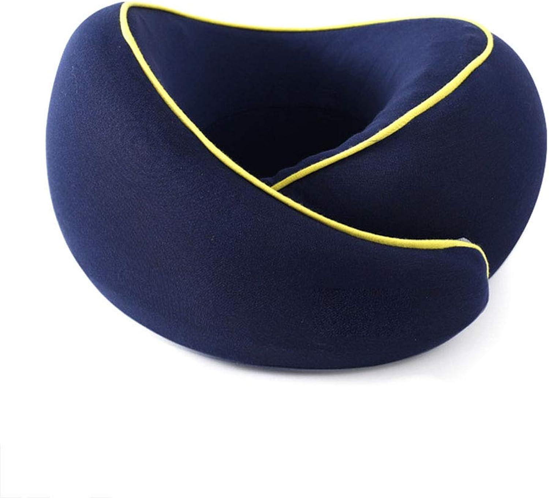 @W.H.Y Voyage Oreiller Cervical Coussin d'allaiteHommest portable Oreiller en Forme de U Oreiller Cervical à mémoire de Coton Avion Oreiller en Forme de U,Navy