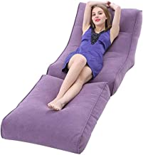 W&YAN Adult Big Foldable Lounger - Extra Large,Giant Floor Cushion Living Room Gamer, Outdoor Garden Beanbag Recliner Chai...