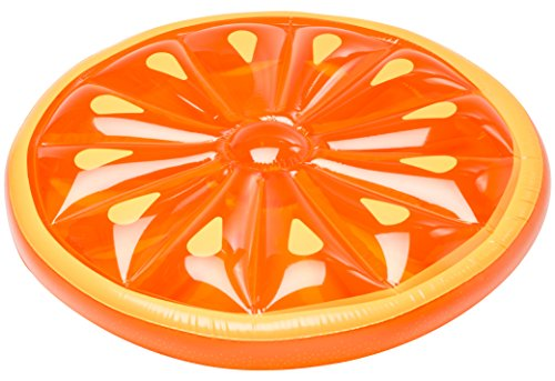 SUN Searcher Citrus Oasis Inflatable Orange Slice Swimming Pool Float