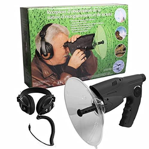 Parabol Abhöranlage Spion mit Kopfhörer Richtmikrofon McVoice Zieloptik Abhörtechnik Hörgeschädigte ~ 90m 23852 + 1x RFID Hülle