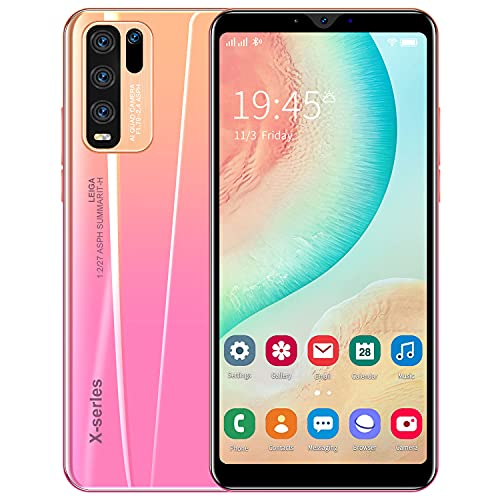 Basic Android Smartphones, 5.5 Inch Quad-Core 4GB Cell Phones, Dual Sim Mobile phone, Dual Cameras, Bluetooth, GPS, Wifi (Rosa)