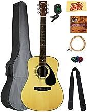 Yamaha F325D Dreadnought Acoustic Guitar Bundle with Gig Bag, Tuner, Strings, Strap, Picks, Austin Bazaar Instructional DVD, and Polishing Cloth