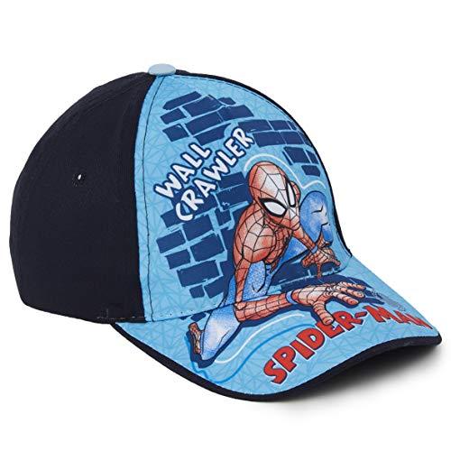 Marvel Avengers Baseball Cap Kinder, Basecap Kinder Jungen mit Spider Man, Thor, Captain America, Hulk und Iron Man, Verstellbare Sonnenhut, Geschenke für Kinder (Navy Spiderman)