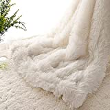 EMME Baby Blanket Super Soft Fuzzy Faux Fur Blanket Plush Warm Receiving Blanket for Girl and Boy Cozy Blanket for Crib, Stroller, Nap, Outdoor (White, 30'x40')