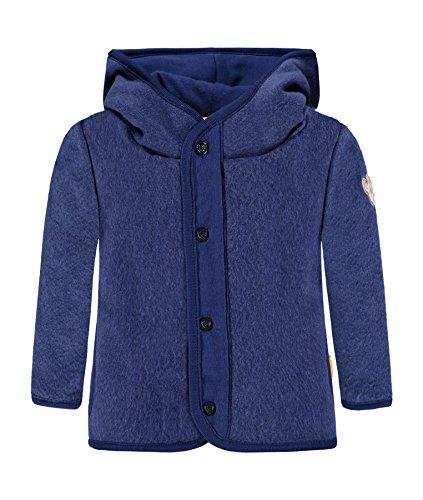 Steiff Jungen Sweatjacke 1/1 Arm Fleece Sweatshirt, Blau (Blue Depths 3122), 68