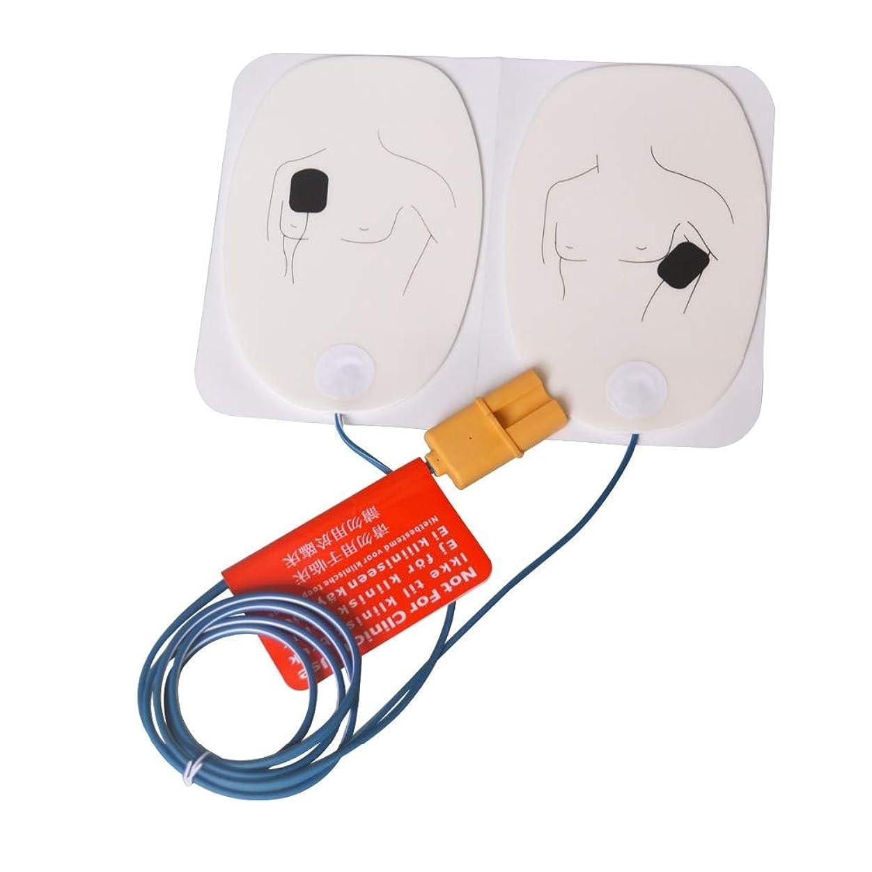 手つかずの現実的整然とした10 組分 AEDトレーナー電極パッド 専用粘着シート, トレーニングのみの場合 (大人用)