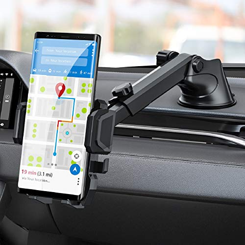 Phone Holder for Car, MANORDS Universal Long Neck Suction Car Phone Mount Compatible with iPhone 11 Pro Xs XS Max XR X 8 8 Plus 7 Samsung Galaxy S10 S9 S8 LG Nexus Sony and More