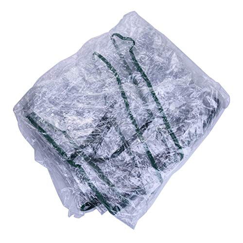 AIHOME Wasserdicht Ersatzfolie PVC-Plane Abdeckhaube für Folien Gewächshaus, Cover für Folienhaus, Treibhaus, Tomatenhaus Gitterfolie (Nicht enthalten Regal)