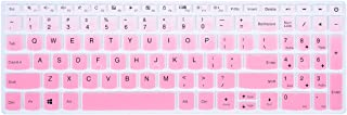 Keyboard Cover Compatible with Lenovo Ideapad S145 S340 L340 130 320 330 330s 340s 520 720s 15.6 inch/2019 Lenovo IdeaPad 15.6 inch/Lenovo V330 V130 15.6 inch/IdeaPad 320 330 17.3 inch, Gradual Pink